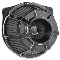 Arlen Ness Inverted Sucker Beveled Black Air Cleaner Kit