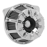 Arlen Ness Inverted Sucker 10-Gauge Chrome Air Cleaner Kit