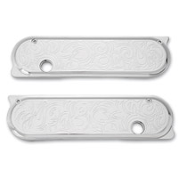 Arlen Ness Engraved Chrome Saddlebag Latch Cover