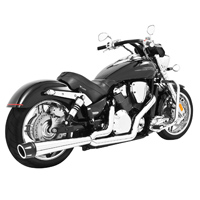 Freedom Performance Exhaust Combat 2-1 Exhaust Chrome with Black Tip