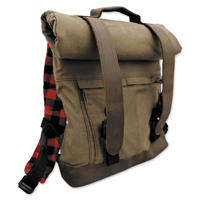 Burly Brand Voyager Waxed Canvas Roll Top Back Pack