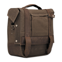 Burly Brand Voyager Waxed Canvas Single Saddlebag