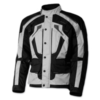 Olympia Moto Sports Men's Richmond Silver Textile Jacket