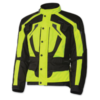 Olympia Moto Sports Men's Richmond Neon Yellow Textile Jacket