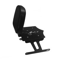BDD Custom Black 8 Ball Luggage Rack w/Backrest for Solo Seat