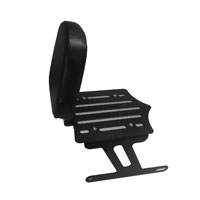 BDD Custom Black Slot Luggage Rack w/Backrest for Solo Seat