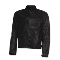 Olympia Moto Sports Men's Bishop Black Leather Jacket