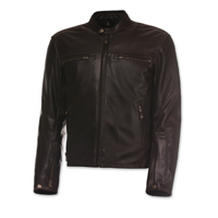 Olympia Moto Sports Men's Bishop Brown Leather Jacket