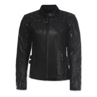 Olympia Moto Sports Women's Janis Black Leather Jacket