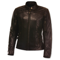 Olympia Moto Sports Women's Janis Brown Leather Jacket