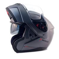 Zox Z-Series Z-MOD10 Atom Matte Titanium Modular Helmet