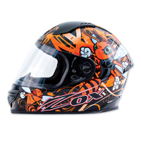 Zox Primo Junior Stinger Orange Full Face Helmet