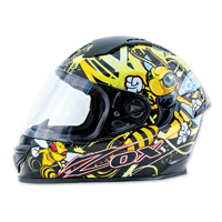 Zox Primo Junior Stinger Yellow Full Face Helmet