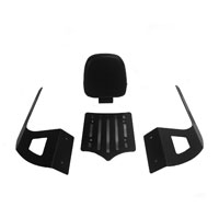 BDD Custom Black Slot Luggage Rack w/Backrest for 2-Up Seats