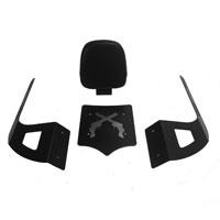 BDD Custom Black Guns Luggage Rack w/Backrest for 2-Up Seats