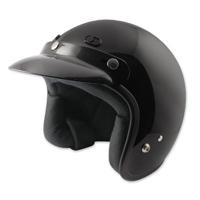Zox Classic Junior Gloss Black Open Face Helmet
