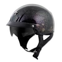 Scorpion EXO EXO-C110 Azalea Black/Gold Half Helmet