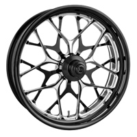 Performance Machine Galaxy Black Contrast Platinum Front Wheel 21 X 3.5""