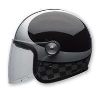 Bell LE Riot Checks Black/Silver Open Face Helmet
