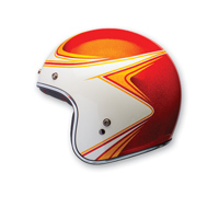 Bell LE Custom 500 Copperhead Orange/White Open Face Helmet