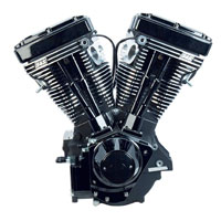 S&S Cycle V111 V Series Black Edition Engine with 585 Camshaft