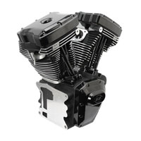 S&S Cycle T111 Long Block Black Edition Engine with 585 Camshafts