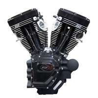S&S Cycle T143 Long Block Black Edition Engine with 635 Camshafts