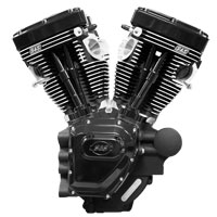 S&S Cycle T124 Long Block Black Edition Engine with 585 Camshafts