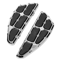 Roland Sands Design Chrome Traction Driver Floorboards