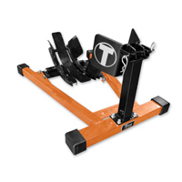 Titan Lifts Bulldog Moto Cradle Wheel Chock - Orange and Black