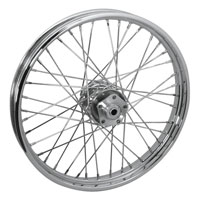 Mid-USA Chrome Complete 40 Spoke Front Wheel 21 X 2.15""