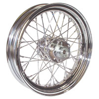 Mid-USA Chrome Complete 40 Spoke Front/Rear Wheel 16 X 3""