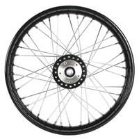 Mid-USA Black 40 Spoke Front Wheel 21 X 2.15""