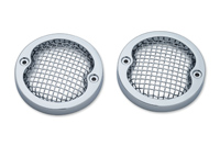 Kuryakyn Mesh Chrome Bezels for 3-1/4″ Flat Turn Signals