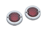 Kuryakyn Mesh Chrome Bezels for Bullet Style Turn Signals
