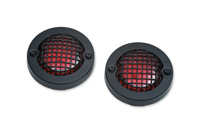 Kuryakyn Mesh Black Bezels for Bullet Style Turn Signals