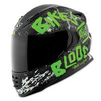 Speed and Strength SS1310 Bikes Are In My Blood Green/Black Full Face Helmet