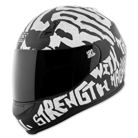 Speed and Strength SS700 Rage With The Machine Black/White Full Face Helmet