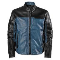 Roland Sands Design Ronin Black/Steel Perforated Leather Jacket