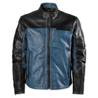 Roland Sands Design Ronin Black/Steel Perforated Leather Jacket