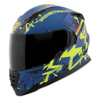 Speed and Strength SS1600 Critical Mass Blue/Yellow Full Face Helmet