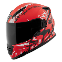 Speed and Strength Critical Mass Red/Black Full Face Helmet
