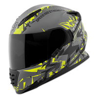 Speed and Strength Critical Mass Gray/Hi-Viz/Black Full Face Helmet