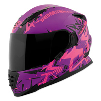 Speed and Strength Critical Mass Pink/Purple Full Face Helmet