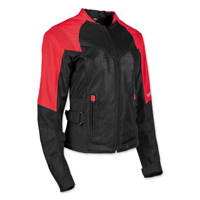 Speed and Strength Women's Sinfully Sweet Red/Black Mesh Jacket