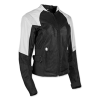 Speed and Strength Women's Sinfully Sweet White/Black Mesh Jacket
