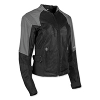 Speed and Strength Women's Sinfully Sweet Silver/Black Mesh Jacket