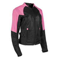 Speed and Strength Women's Sinfully Sweet Pink/Black Mesh Jacket
