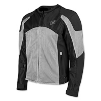 Speed and Strength Men's Midnight Express Silver/Black Mesh Jacket