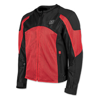 Speed and Strength Men's Midnight Express Red/Black Mesh Jacket